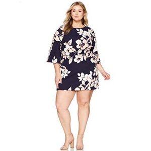 🌿NWT Eliza J Navy Floral Bell Sleeve Dress